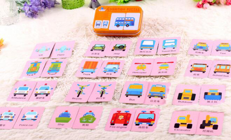 Tin Case Baby Early Learning Cards Puzzle Puzzle Educational Puzzle - Ойындар мен басқатырғыштар - фото 4
