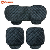 3pcs Set Universal Silk Velvet Car Seat Covers For Front And Back Seat Chair 2 Colors