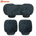 Universal Quality Soft Silk Velvet Car Seat Covers Seats Cushion For Front Back Seat Chair Black Gray Car Interior Accessories
