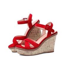 livraison obtenez Achetez la sandale la sur compensée gratuite et rouge qvA0gwAB