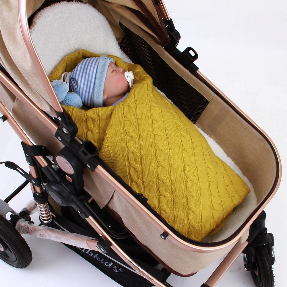 Soft Baby Swaddle Wrap Blankets Newborn Unisex Stroller Bedding Covers Accessories Solid Knitted Toddler Infantil Blanket Covers