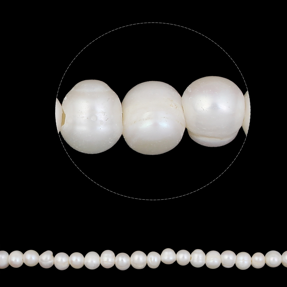 Sold Per Approx 14.5 Inch Strand Grade A 9-10mm White Hole:approx 2mm Provided Round Cultured Freshwater Pearl Beads Jewelry Natural