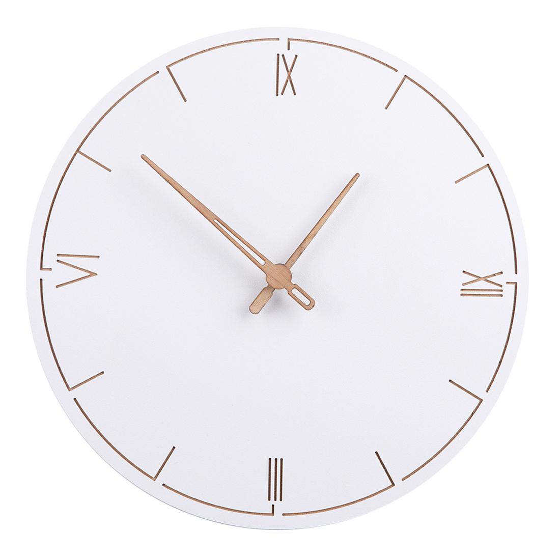 29Cm Nordic Style Fashionable Simple Silent Wall Clocksfor Home Decor Pure White Type Wall Clock Quartz Modern Design Timer