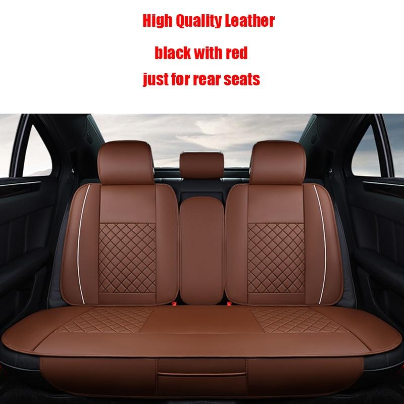 ФОТО 1 Pcs Leather Car Seat Cover For Hyundai i30 ix35 ix25 Elantra Santa Fe Sonata Tucson 2016 Solaris Car Styling accessories