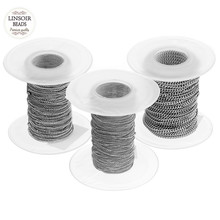 316l-Stainless-Steel Link-Chain Diy Necklace Jewelry-Making Silver-Tone-Width for 10-Yard/Lot