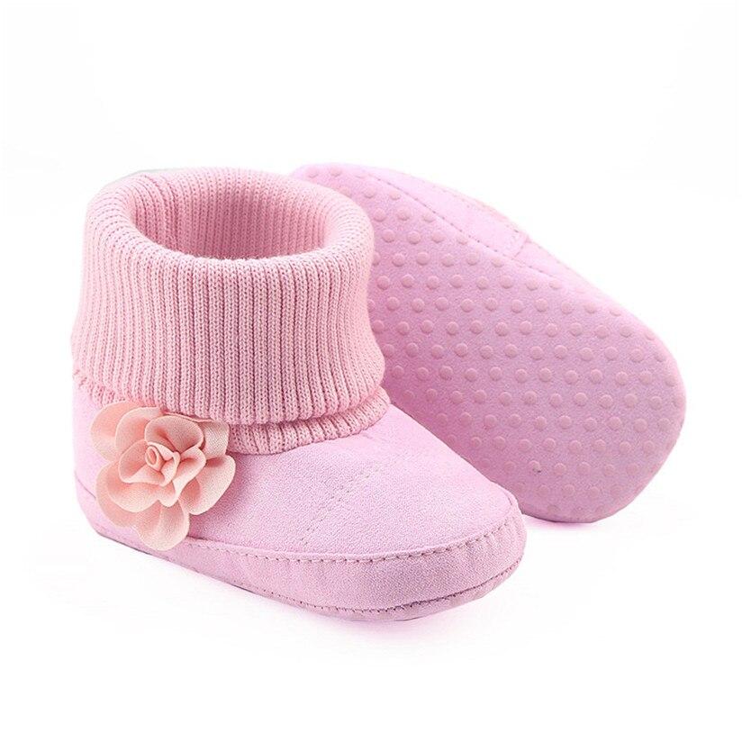 Bottes de Neige Souples de bébé en forme de la Fleur rose 13 cm 1o3S0Ntl3p