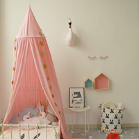 4 Colors Mosquito Bed Canopy on Cot Net Kids Boys Girls Princess Valance Kids Room Decoration Round Mosquito Net Tent Curtains