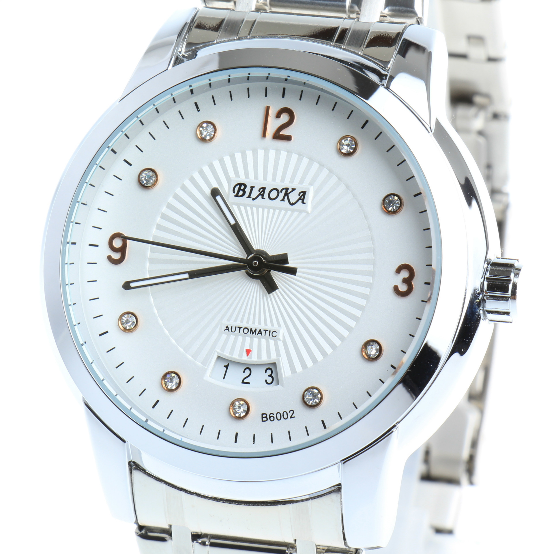 2016 NEWEST brand BIAOKA men s watch Date Display Male Clock New Big Dial White Lens
