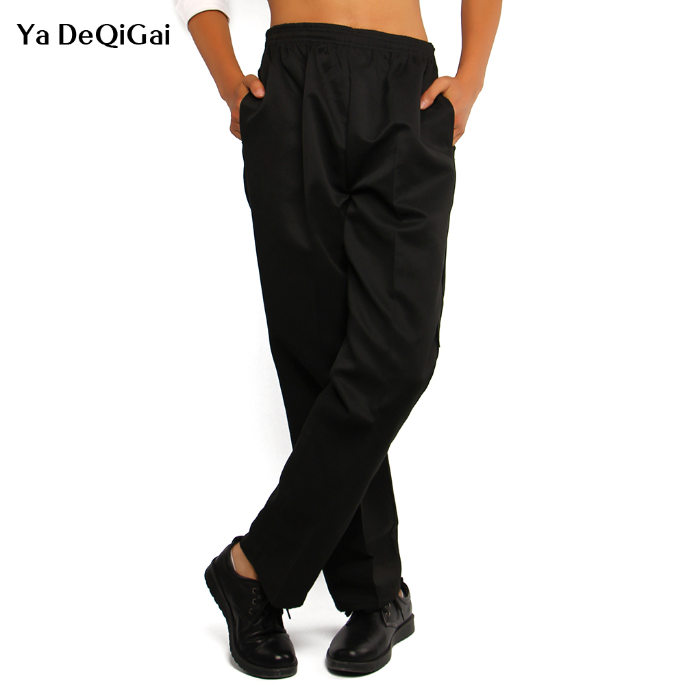 News Peppers Restaurant Pants Chef Trousers Food Service Striped Pants Bakery Stretch Work Wear Uniform Cook L-5XL Chef Uniform