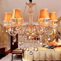 New Modern Led Crystal Chandeliers For Kitchen Room Livingroom Bedroom Gold Color K9 Crystal Lustres De