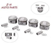 New 4Pcs 1.4T Piston & Ring Set For AUDI A1 A3 S1 S3 VW Golf JettaTiguan CC Beetle 03C 107 065 BF / 198 151 A 06A 441