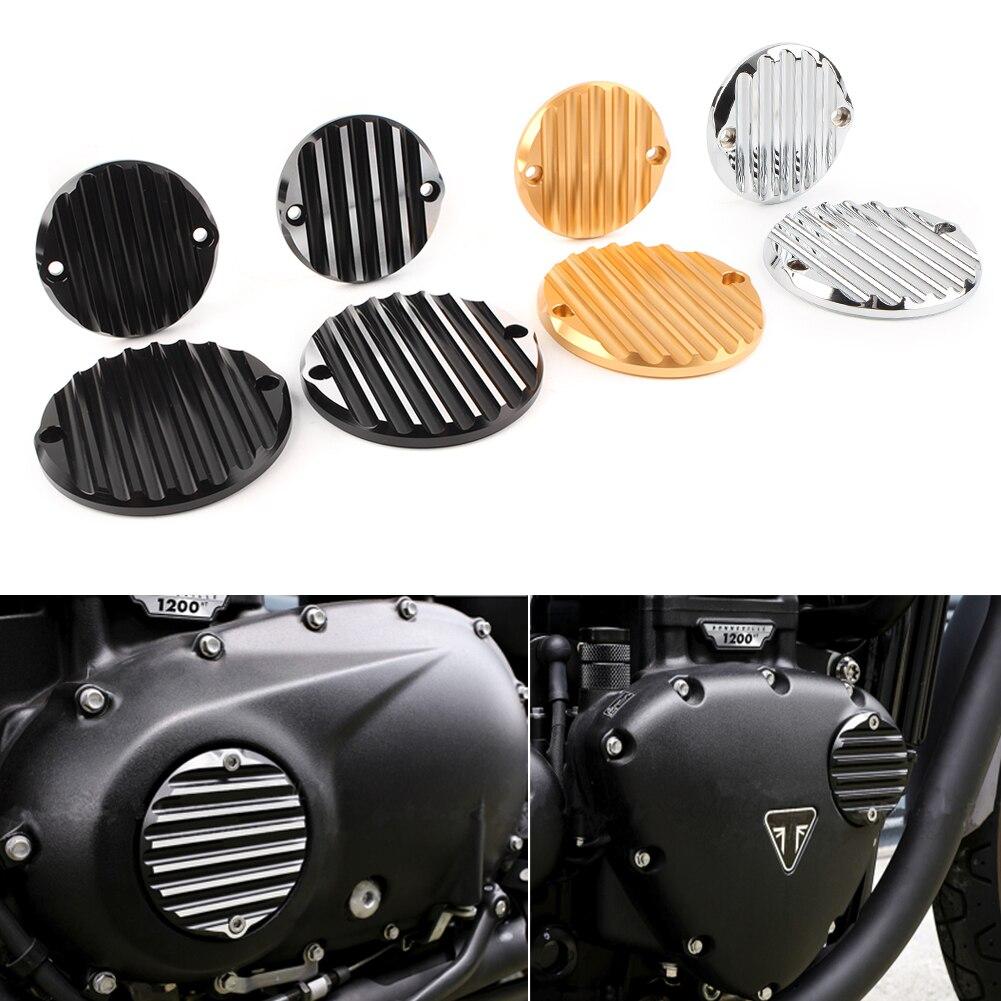 Couverture d'inspection d'insigne d'embrayage de moto pour 2018 2019 Triumph Bonneville Bobber noir/Speedmaster & 2017-2019 Bobber T100 noir
