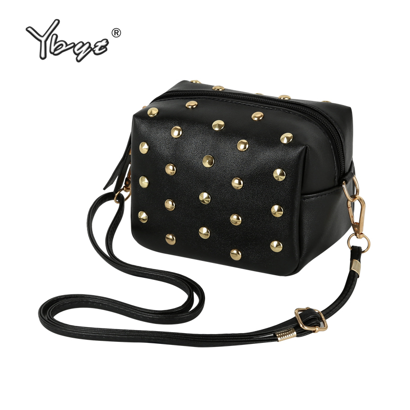 YBYT brand 2018 new mini simple rivet PU leather women casual fashion shoulder crossbody bag hotsale elegant ladies evening bags ybyt brand 2017 new fashion cute round handle flap hotsale pu leather ladies shopping handbags shoulder messenger crossbody bags