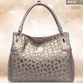 2015 modelos de primavera retro patrones mujeres leather messenger bag gran capacidad envío gratis