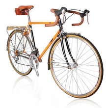 700C road bike 27 speed bike retro bicycle CR-MO frame / fork city bike frame color / height can be customized Reynolds520 frame