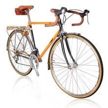 700C bicicleta de carretera 27 velocidad bicicleta retro MARCO DE CR-MO de bicicleta/horquilla marco para Bicicleta de ciudad color/altura puede ser modificado para requisitos particulares