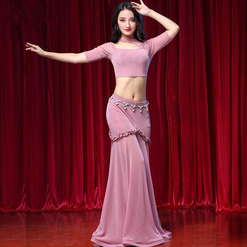 Belly Indian eastern hair swinging baladi dance costumes Bellydance oriental dancing costume robe bra belt skirt dress wear 3103