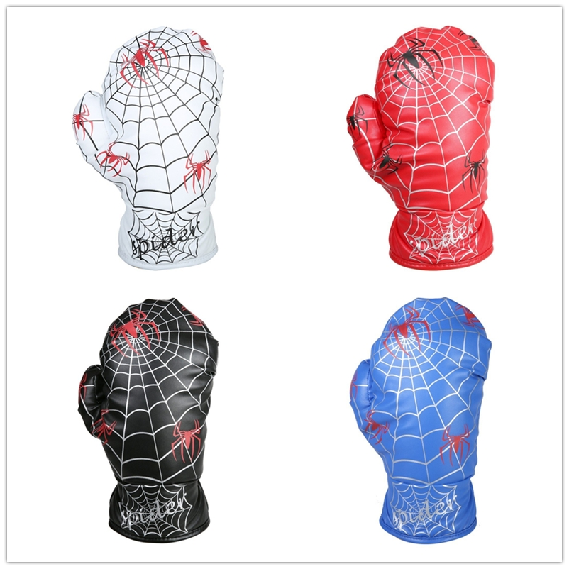 New Driver Wood Head Cover Spider Web Design Boxing Glove 4 Colors Available Golf Club Covers With Free Shipping