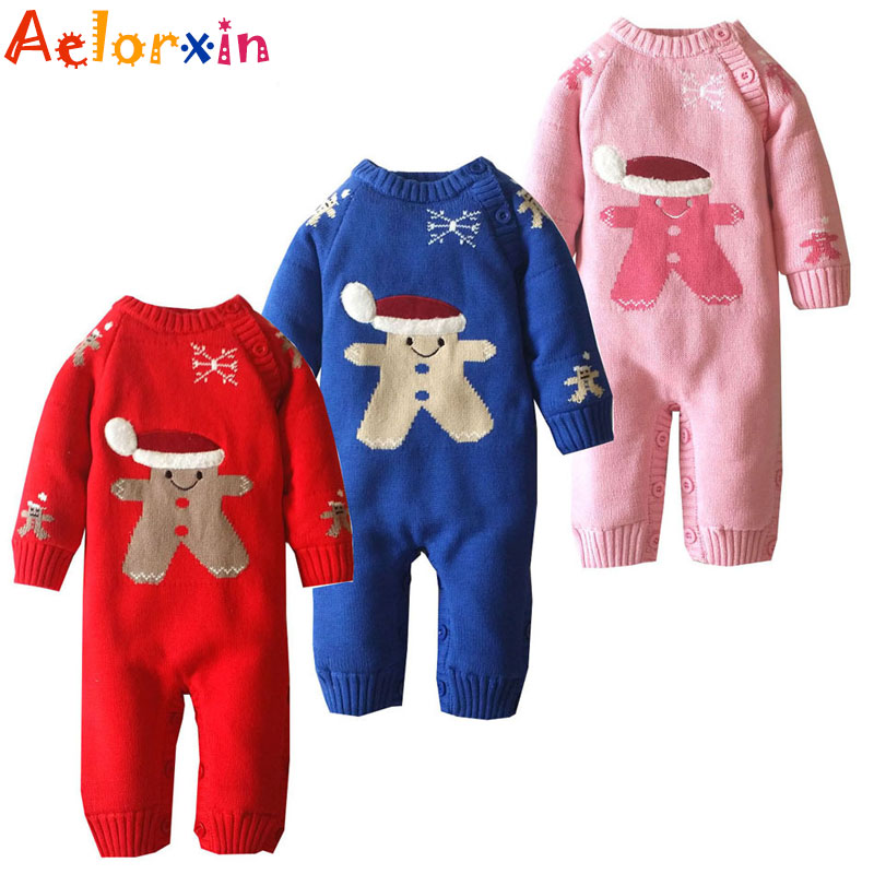 Winter Newborn Baby Girls Clothing Boys Rompers Cartoon Infant Clothes Down Snowsuit Babies Jumpsuits Christmas Clothing 2016 unisex baby boys girls clothes long sleeve polka dot print winter baby rompers newborn baby clothing jumpsuits rompers 0 24m