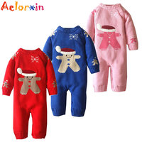 Winter Newborn Baby Girls Clothing Boys Rompers Cartoon Infant Clothes Down Snowsuit Babies Jumpsuits Christmas Clothing 2016