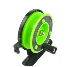 1pc สีเขียวฤดูหนาวน้ำแข็งประมงล้อ Mini fishing reel reel ล้อขนาดเล็กล้อหน้า