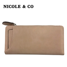 NICOLE & CO NEW Women Wallets PU Leather Long Style Card Holder Money Purse Female Fashion Bag id