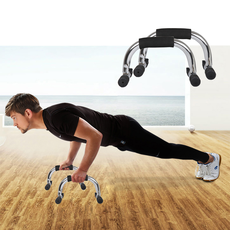 1Pair I-shaped Push-up Rack Fitness Body Training Unisex Portable Pushup Stands Frame Arm Muscle Trainer Home Sport Gym Exercise