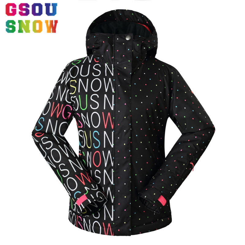 GSOU SNOW Ski Jacket Women Snowboard Jacket Winter Waterproof Windproof Ladies Skiing Suit Outdoor Female Warm Sport Clothing freestyle skiing ladies aerial qualification pyeongchang 2018 winter olympics