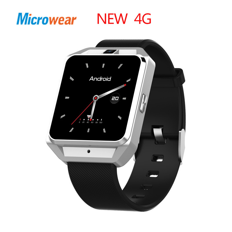Microwear New 4G Smart Watch 5M Camera 1G RAM+8G ROM Heart Rate Monitor Android 6.0 Wifi Wearable Smartwatch for iPhone Andriod crcular shape no 1 d5 android 4 4 bluetooth gps smart watch with heart rate monitor google play gps 4g rom 512m ram smartwatch