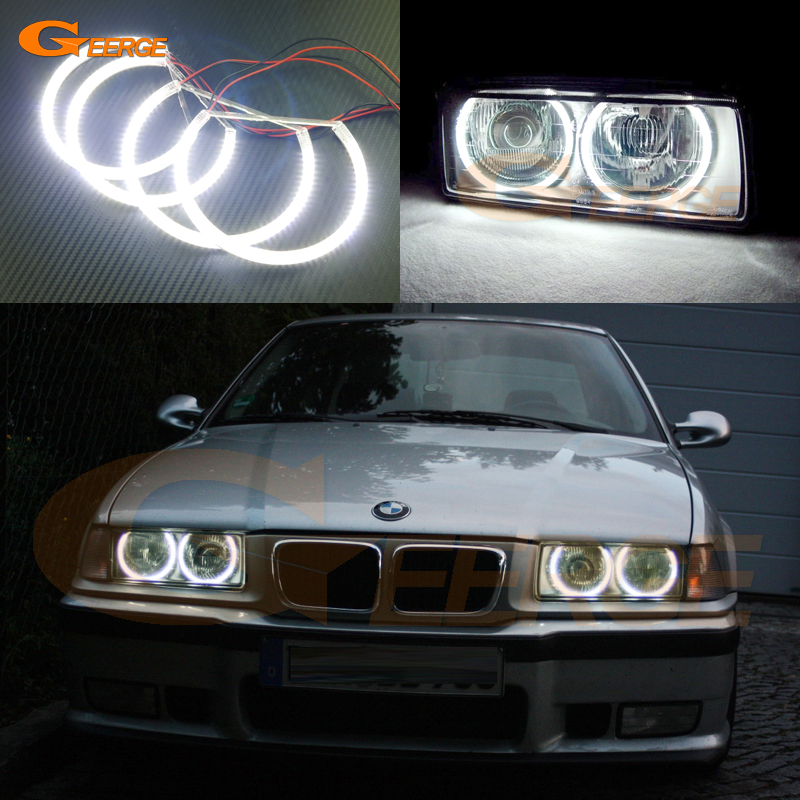 For BMW E36 318I 323I 325I 328I 1992-1998 Euro headlight Excellent angel eyes Ultra bright SMD led Angel Eyes Halo Ring kit bmw 318 в москве