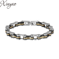XINYAO 2017 Fashion Titanium Stainless Steel Bracelet Bike Bicycle Motorcycle Chain Bracelets Men Jewelry Pulsera Hombre