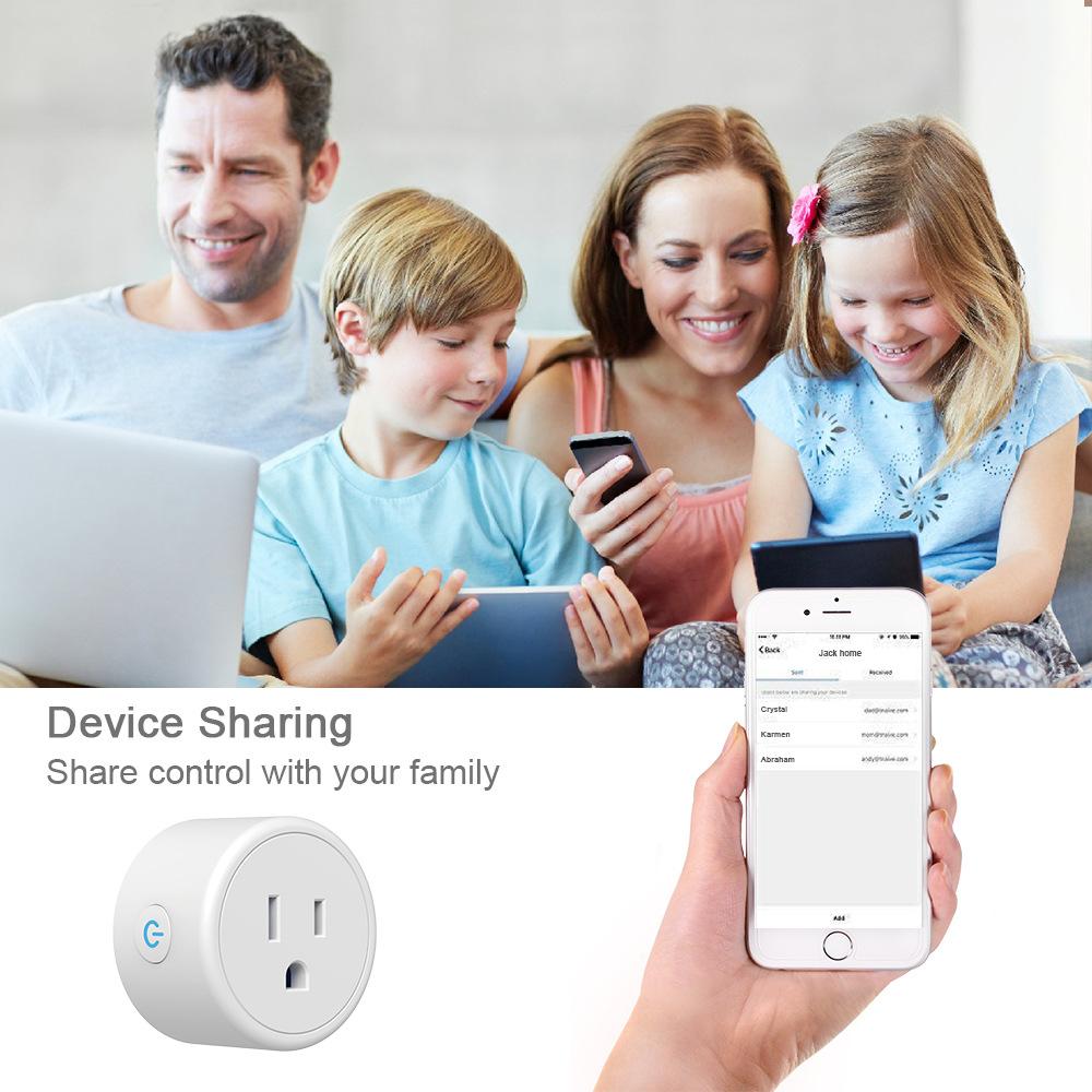 HTB13zD4e4iH3KVjSZPfq6xBiVXa2 - FrankEver Mini US Wifi Plug with Surge Protector 110-240V Voice Control Smart Socket Work with Alexa Google Home Tuya APP