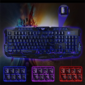 Image 5 - Russian Keyboard Changeable LED with Color Luminous Backlit Multimedia Ergonomic Gaming Keyboard and Mouse Set for Game computer