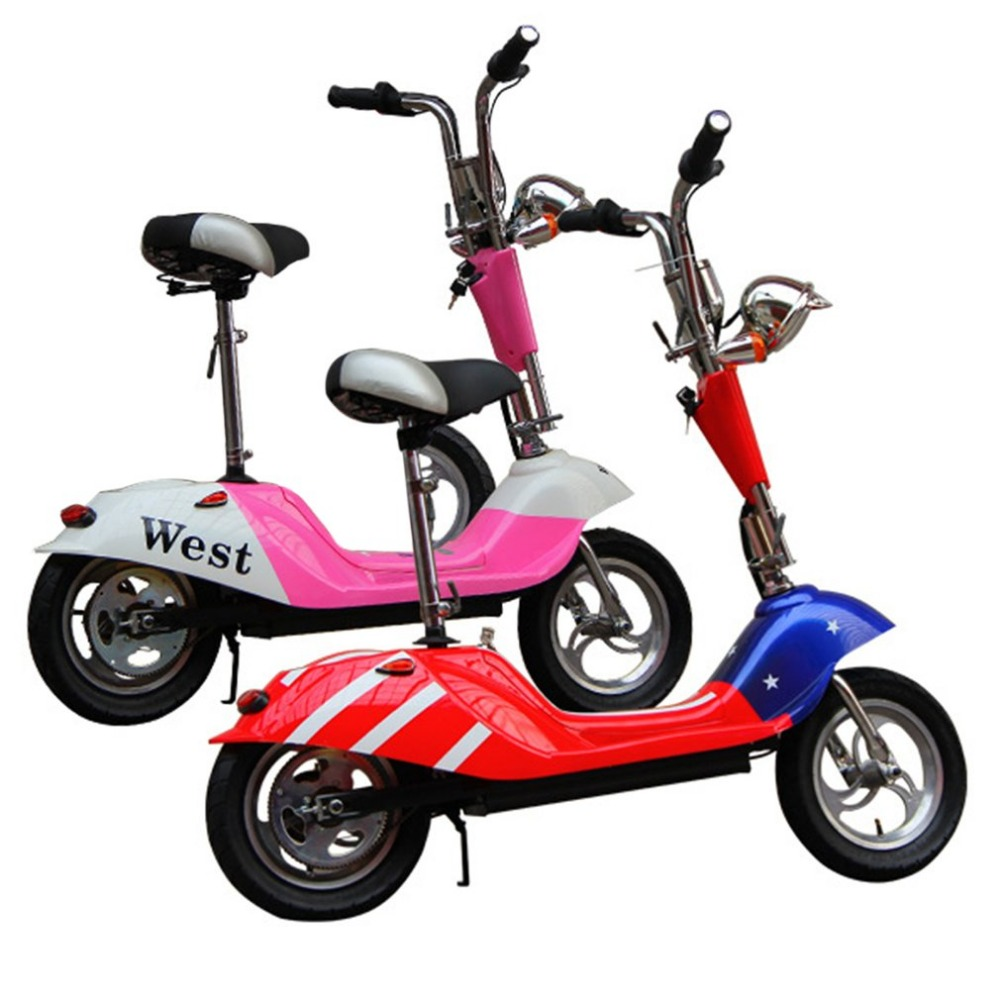 Electric Vehicle Mini Electric Scooter Battery Vehicle Foldable Adult Student Scooter Comfortable Cushion Rear Lights drop shipp купить