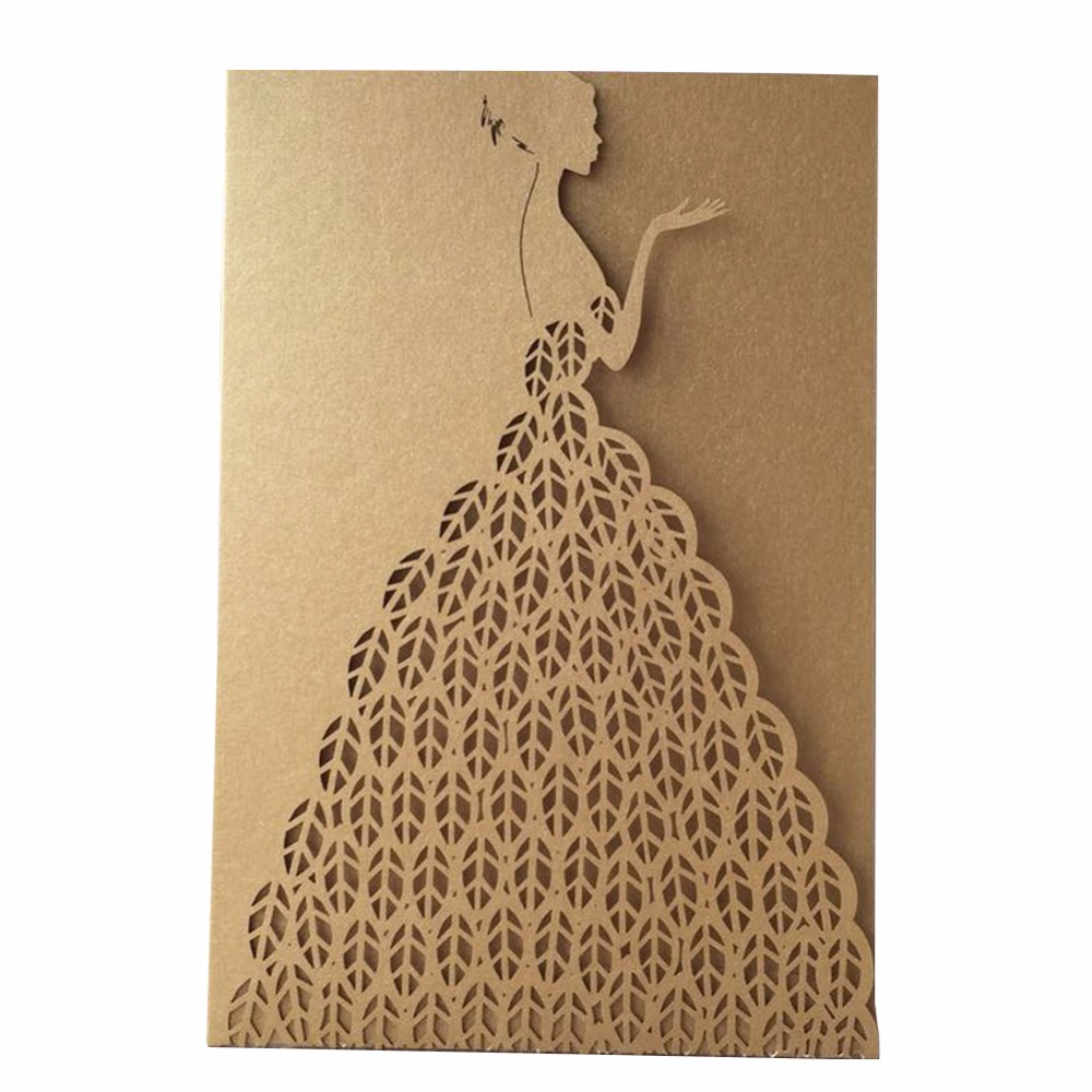 Us 30 45 13 Off 50pcs New Delicate Pretty Design Event Birthday Engagement Party Wedding Invitation Cards Girl S Adult Ceremony With Envelop In