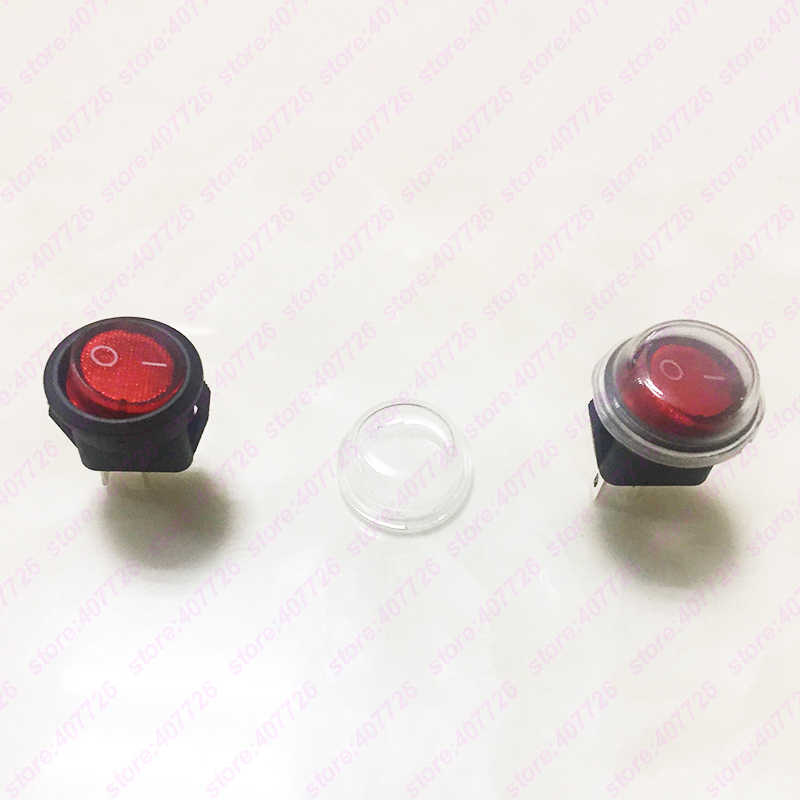 5 uds., 15 MM, pequeño, redondo, negro, 2 pines, 2 archivos, 3 A/250 V, 6 a/125 V, interruptor basculante, interruptor de balancín para el salpicadero del coche, juguetes para el salpicadero