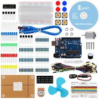For Arduino UNO R3 Project Mini Kit With Tutorials R3 Controller Board LCD Screen Resistors Rotary