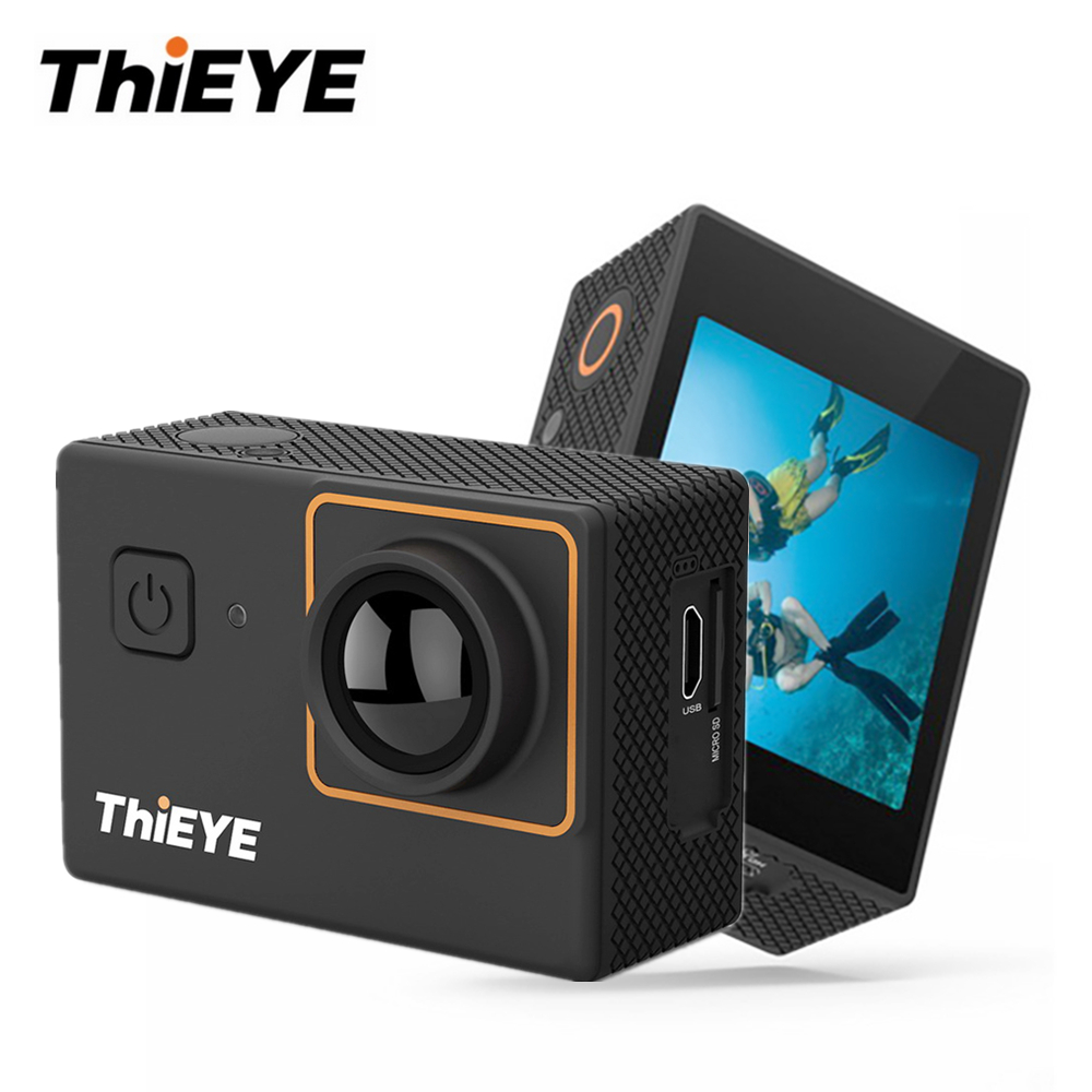 ThiEYE i30+ 4K Waterproof Action Camera WiFi Full HD 1080p Outdoor Sport Video Camera 12MP Full HD 2 inch Screen Underwater Cam wimius 20m wifi action camera 4k sport helmet cam full hd 1080p 60fps go waterproof 30m pro gyro stabilization av out fpv camera