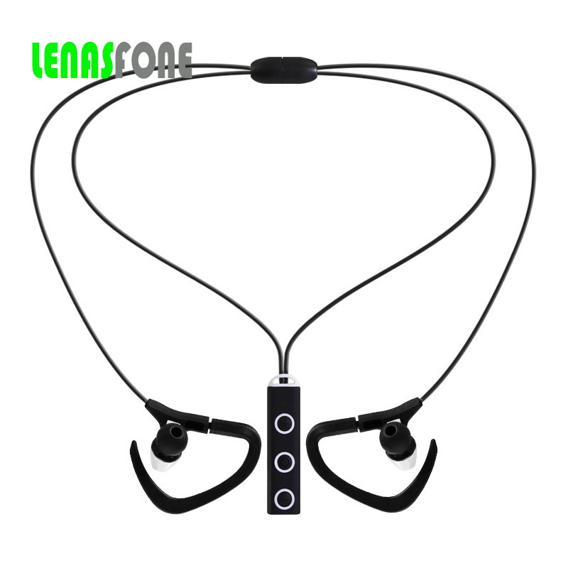 LENASFONE Sports In-Ear Wireless Bluetooth Earphone Stereo Earbuds Headset Bass Earphones with Mic for iPhone 6 Samsung Phone