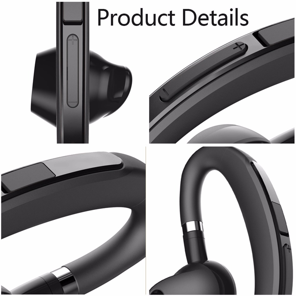 Bluetooth Headphone Bluetooth Headset Noise Canceling Earphone Stereo Earpiece For Android IOS Samsung iPhone LG Motorola Huawei