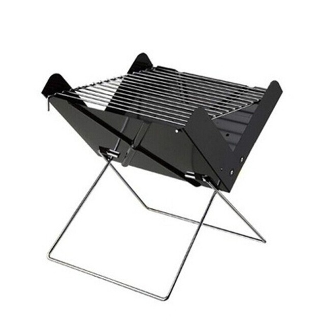 Folding Iron Grill Portable Barbecue Grill Outdoor Charcoal Grills Camping  Tools