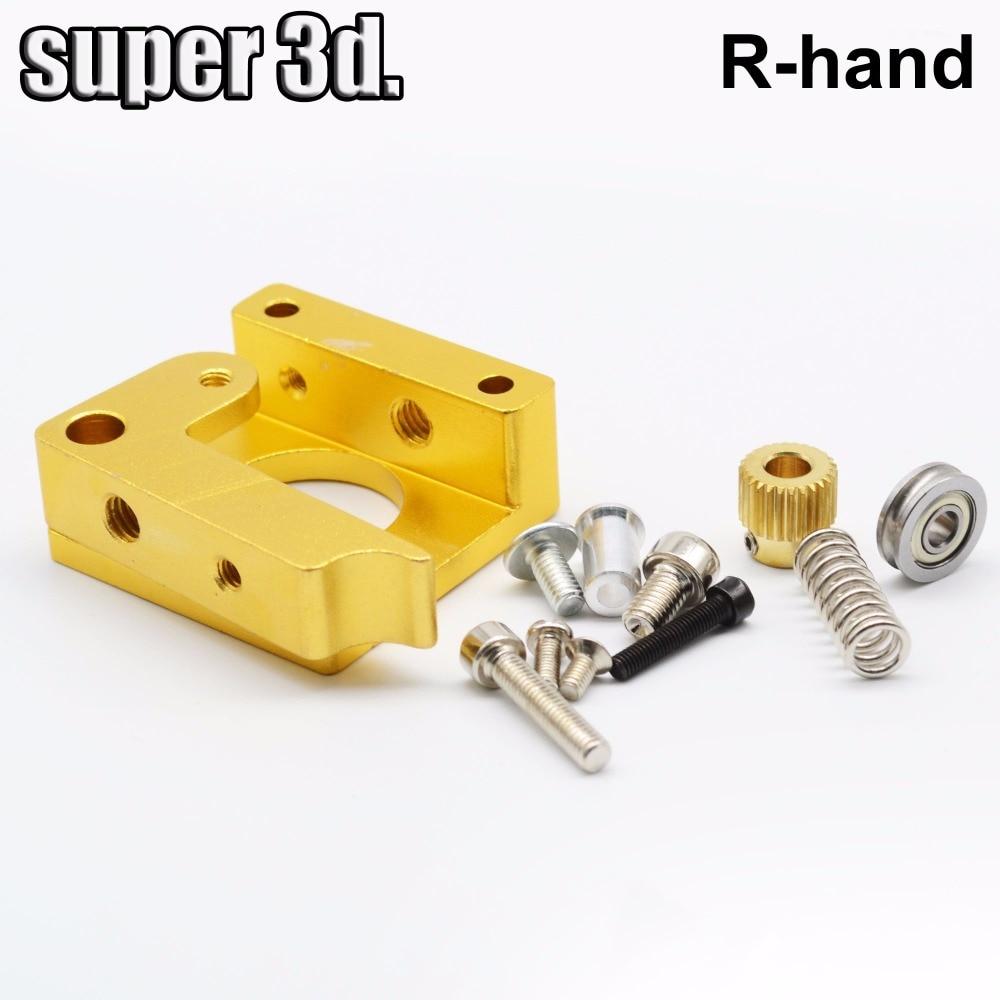 Best price  MK8 single nozzle extruder aluminum block DIY kit Right hand For Makerbot Reprap extrusion printer head