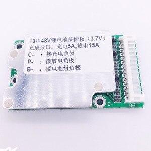 Image 5 - E bike pil 13 S 48 V Li ion Lityum Hücre 15A 18650 Pil Koruma BMS PCB kartı Denge