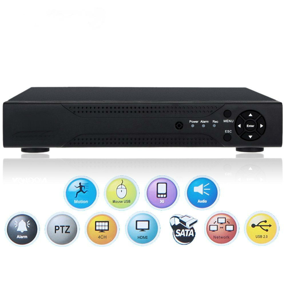 YobangSecurity 4CH Channel 720P AHD DVR NVR HDMI P2P Network Digital Video Recorder for CCTV Security Camera Surveillance System cctv camera dvr system ahd 720p kit optional 2 3 4 channel cctv dvr hvr nvr 3 in 1 video recorder infrared dome camera security
