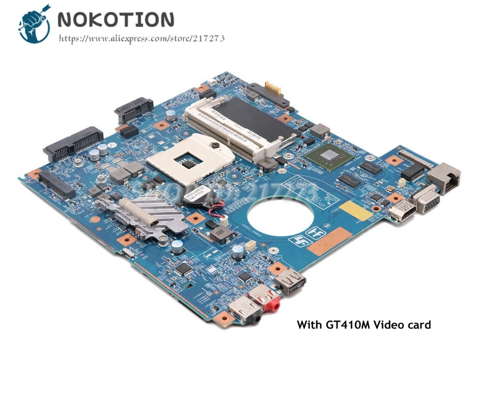 NOKOTION For Sony Vaio PCG-61911W VPCEG VPCEG18FG Laptop motherboard HM65 DDR3 GT410M 48.4MP01.021 MBX-250 MAIN BOARD цена