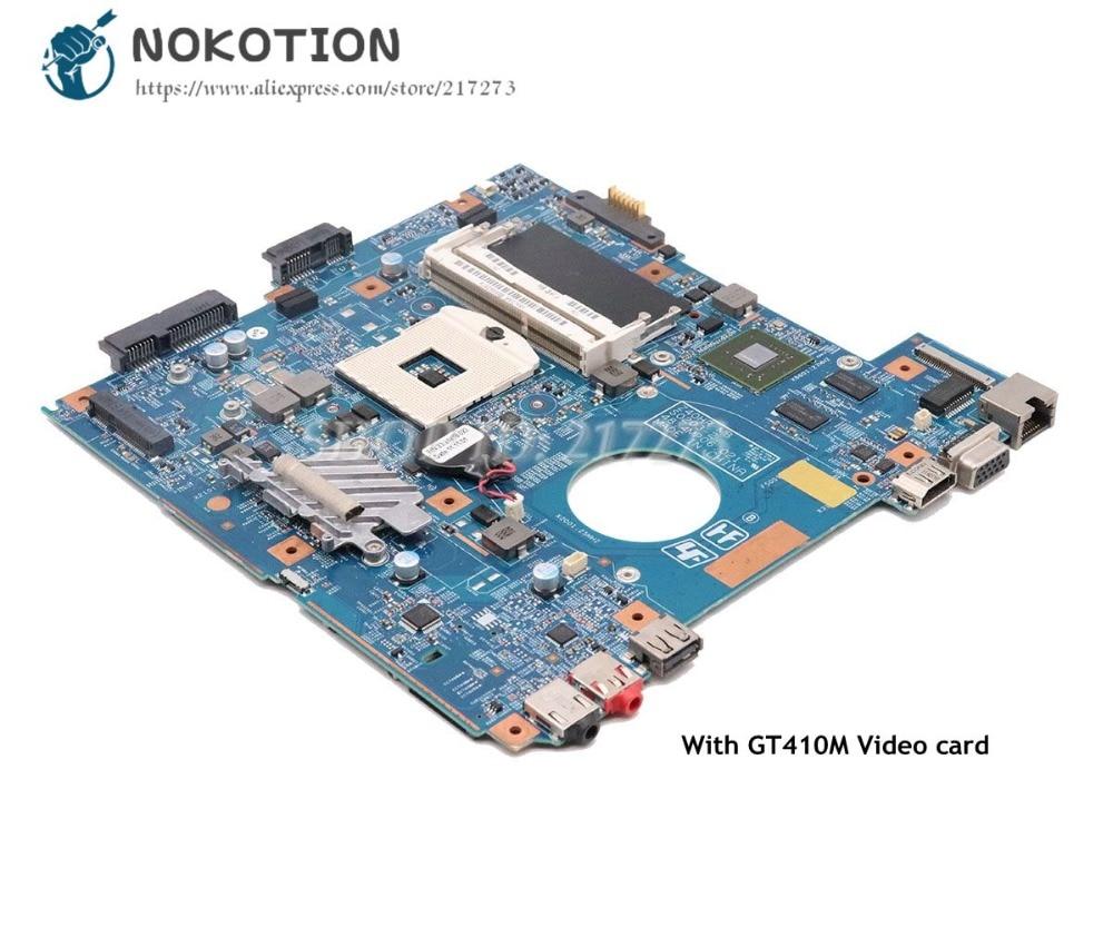 NOKOTION For Sony Vaio PCG-61911W VPCEG VPCEG18FG Laptop Motherboard HM65 DDR3 GT410M 48.4MP01.021 MBX-250 MAIN BOARD