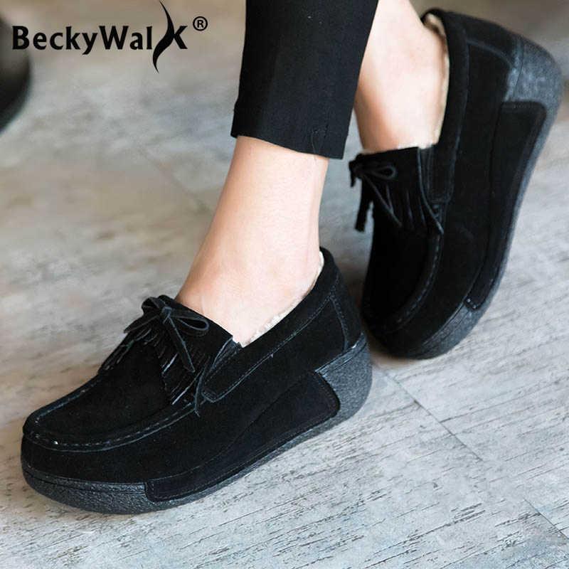 BeckyWalk Genuine Leather Platform