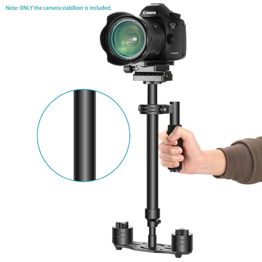 Neewer Aluminum Alloy Handheld Stabilizer 24 inches//60 Centimeters with 1//4 inch Screw Quick Shoe Plate for Canon Nikon Sony and Other DSLR Camera Video DV up to 6.6 pounds//3 kilograms