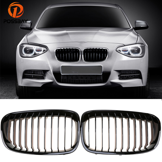 Possbay Front Kidney Grilles Grill Gloss Black For Bmw 1 Series F21