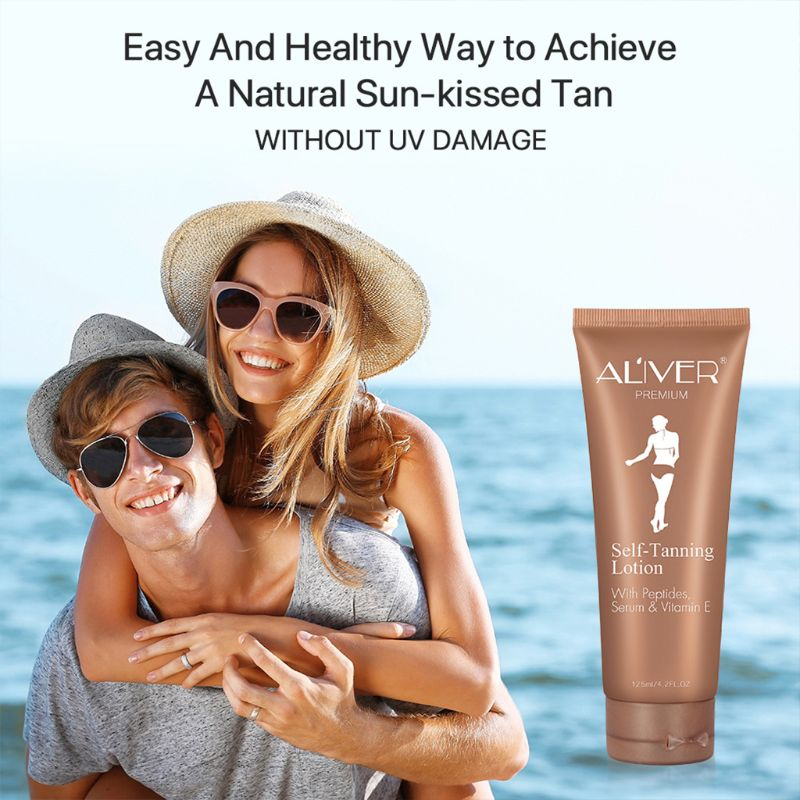 Natural Body Bronze Tanning Cream Self Tanning Cream Tan Body Lotion Bronzing Tanning Lotion(China)